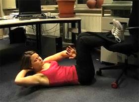 Video: Sit-Ups am Arbeitsplatz