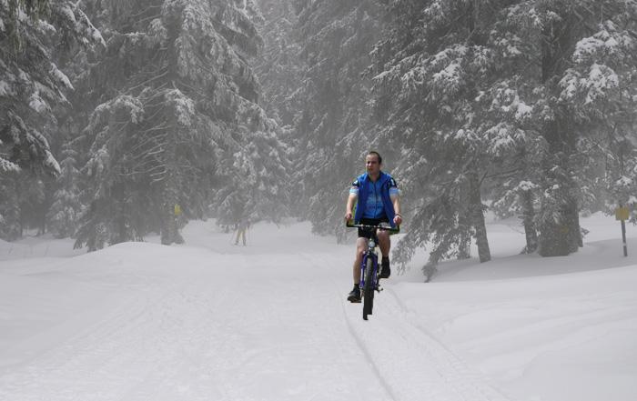 Mountainbiken im Winter