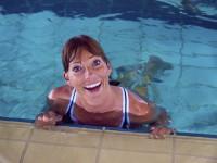 Moderne Wassernixen bei der 15. European Aquatic Fitness Convention