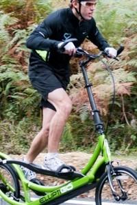 Training on the EllitpiGO 8S Outdoor Elliptical Bike