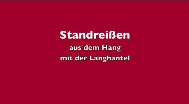 KDK -Standreißen aus dem Hang m. d. Langhantel