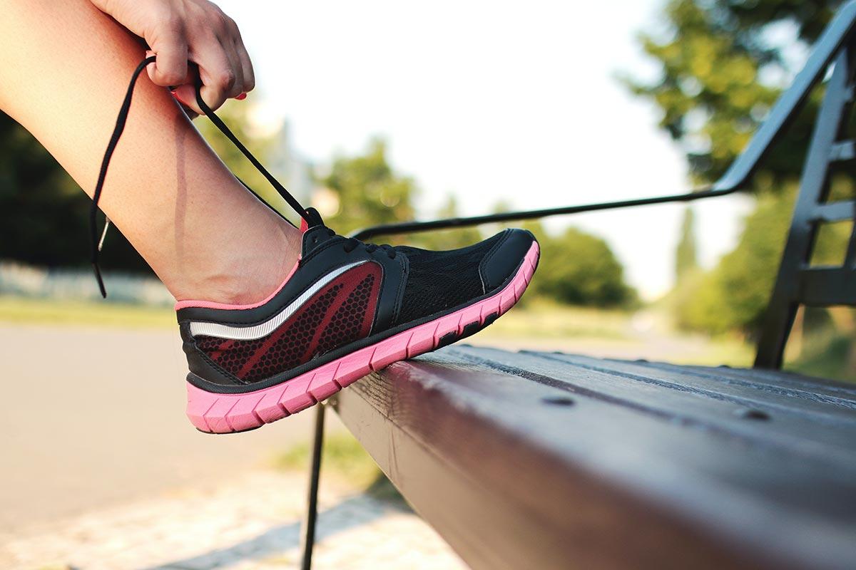Vom Menschen getreten, doch stets ergeben: der Laufschuh!