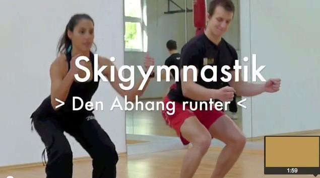 Skigymnastik für Po und Oberschenkel