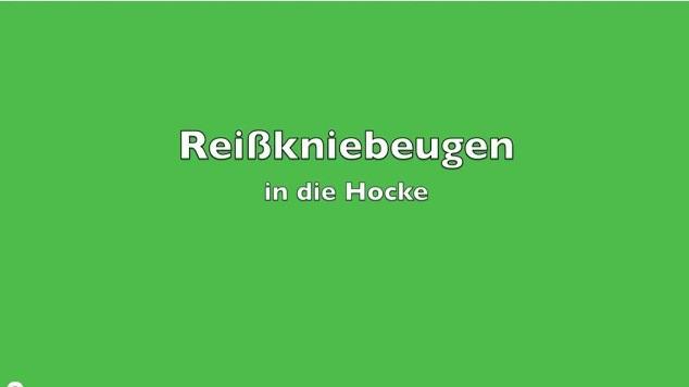 KDK - Reißkniebeugen in die Hocke