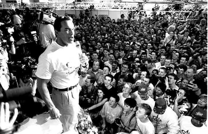 Arnold Schwarzenegger, Sylvester Stallone und Ralf Möller
