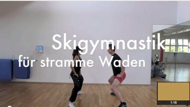 Skigymnastik für Wadenmuskulatur und Fuß