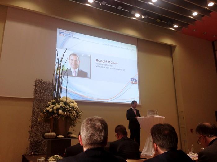 Wirtschaftstag der Volksbank Kur- und Rheinpfalz 2012 in Speyer