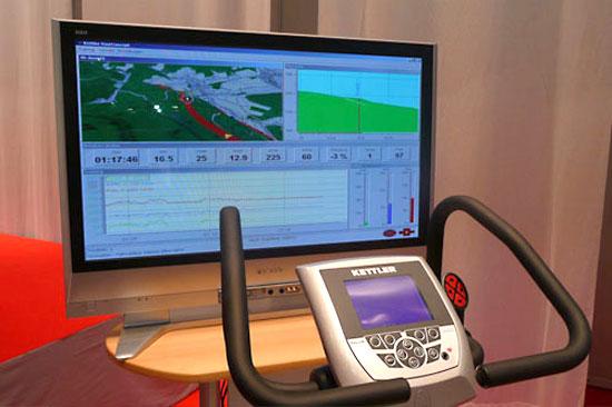 La primera bicicleta estática del mundo dirigida por GPS