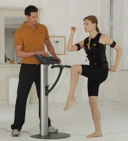 Fitness bajo la corriente eléctrica