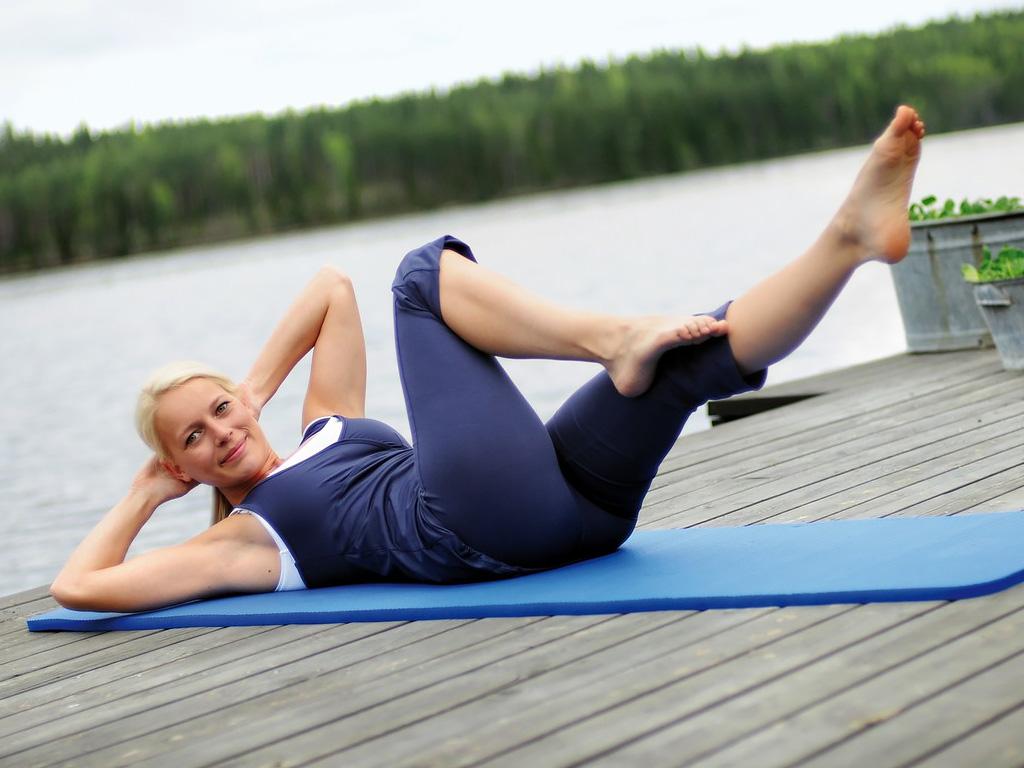 SISSEL® Gym Mat Professional - blau 100 cm breit