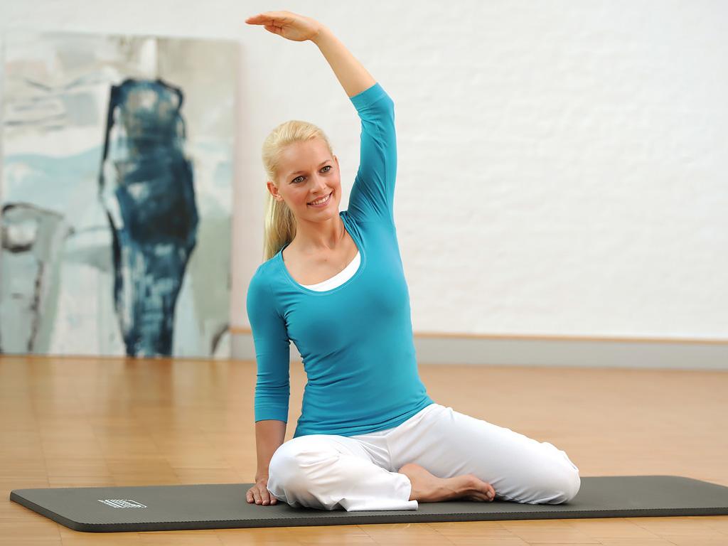 SISSEL® Gym Mat Professional - blau 100 cm breit - 2