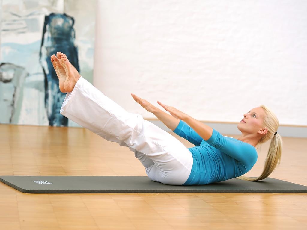 SISSEL® Gym Mat Professional - blau 100 cm breit - 4