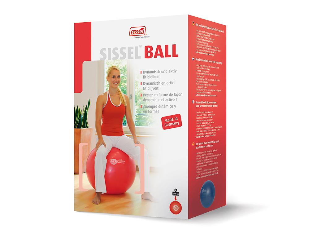 SISSEL® Gymnastikball rot - 2