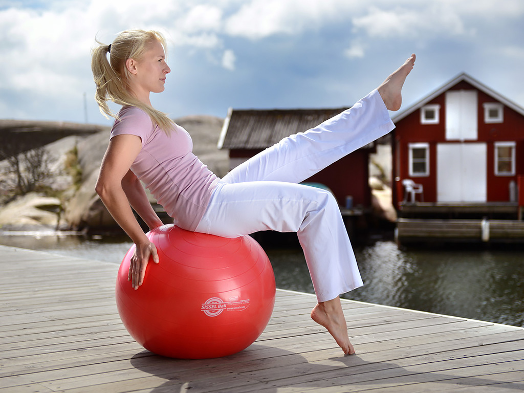 SISSEL® Gymnastikball rot - 3