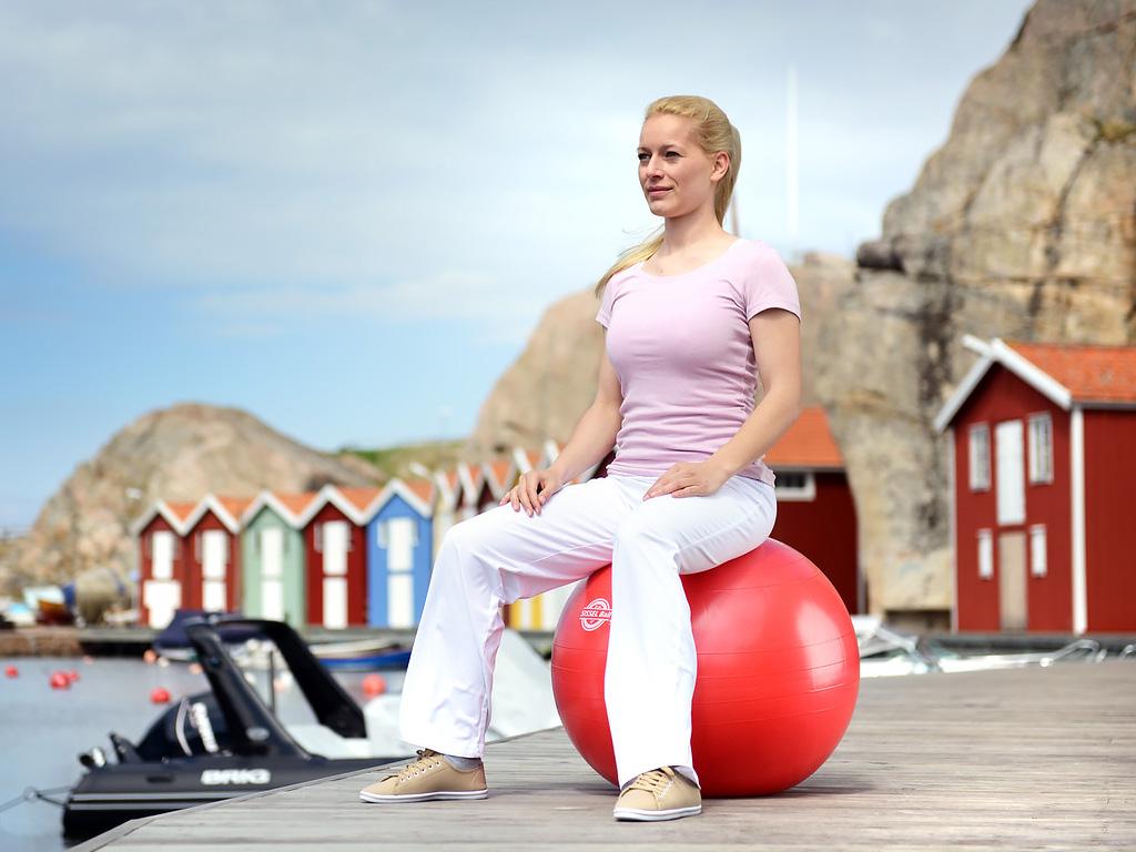 SISSEL® Gymnastikball rot - 5