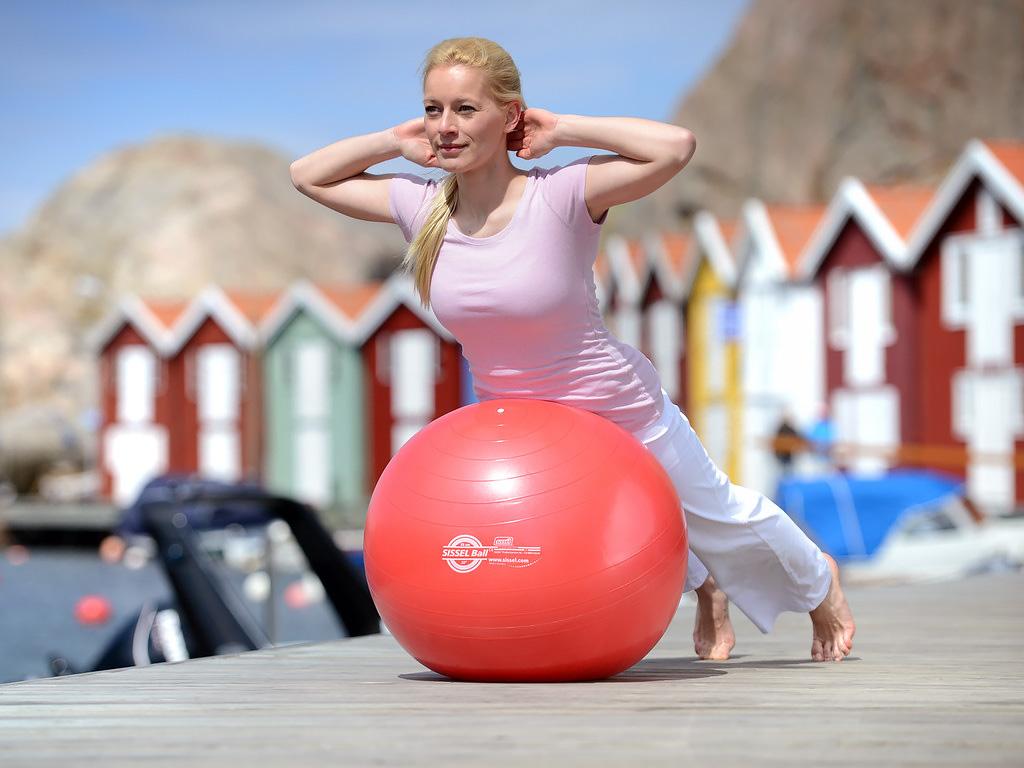 SISSEL® Gymnastikball rot - 1