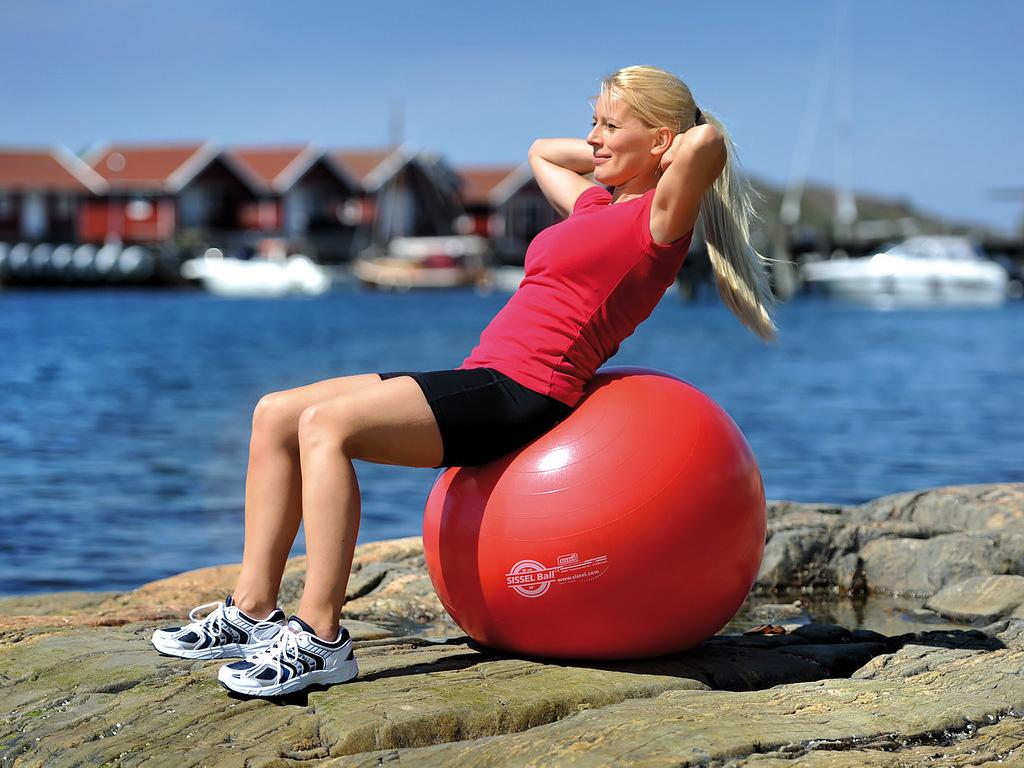 SISSEL® Gymnastikball rot - 4