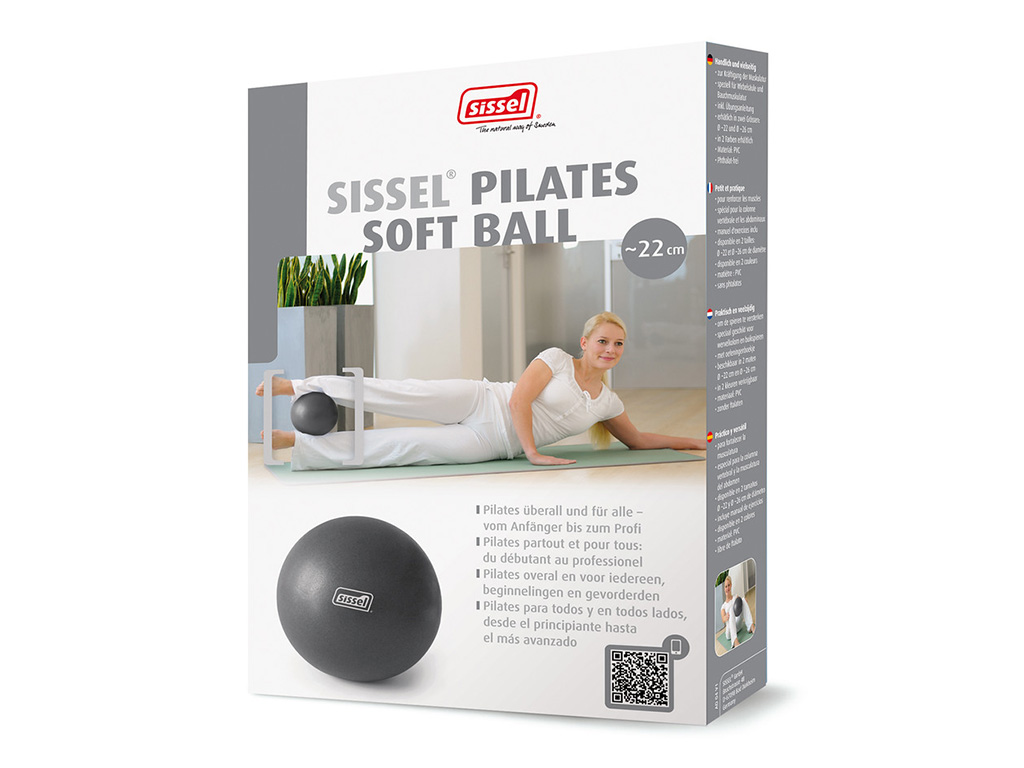 SISSEL® Pilates Soft Ball metallic anthrazit - 1