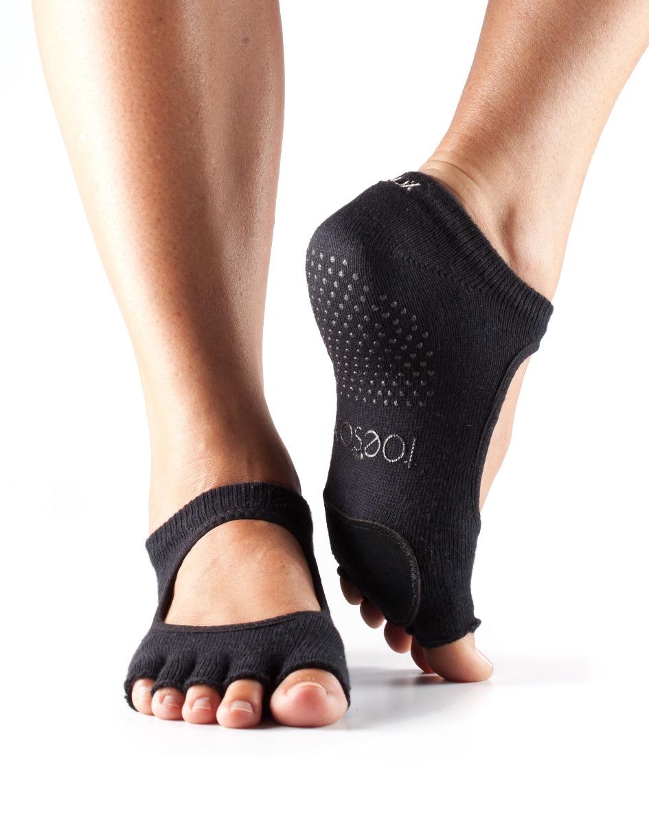 Yogasocken ToeSox Dance Half Toe Plie Black