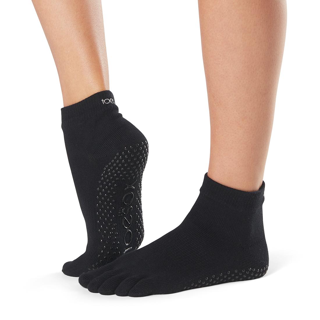 Yogasocken ToeSox Ankle Full Toe Black