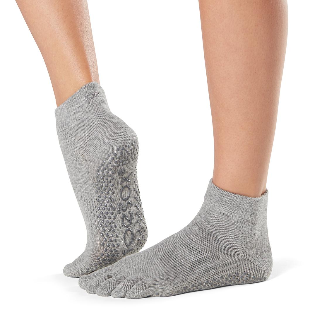 Yogasocken ToeSox Ankle Full Toe Heather Grey