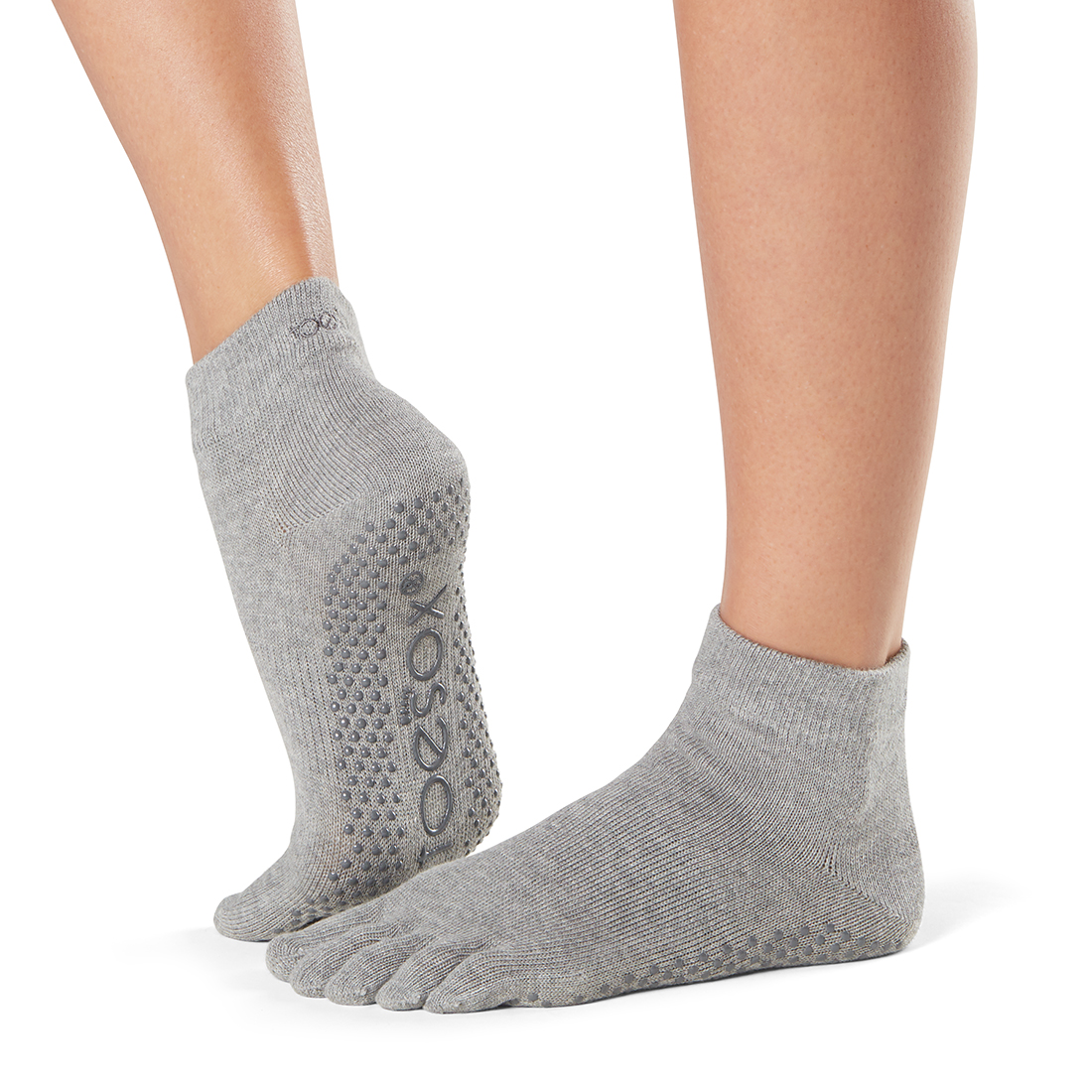 Yogasocken ToeSox Ankle Full Toe Heather Grey - 1