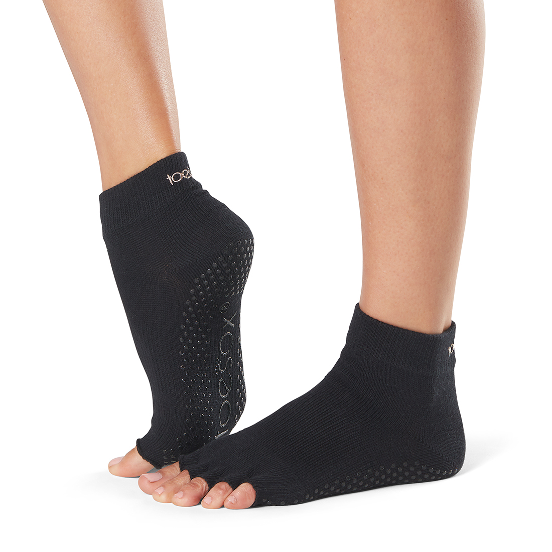 Yogasocken ToeSox Ankle Half Toe Black