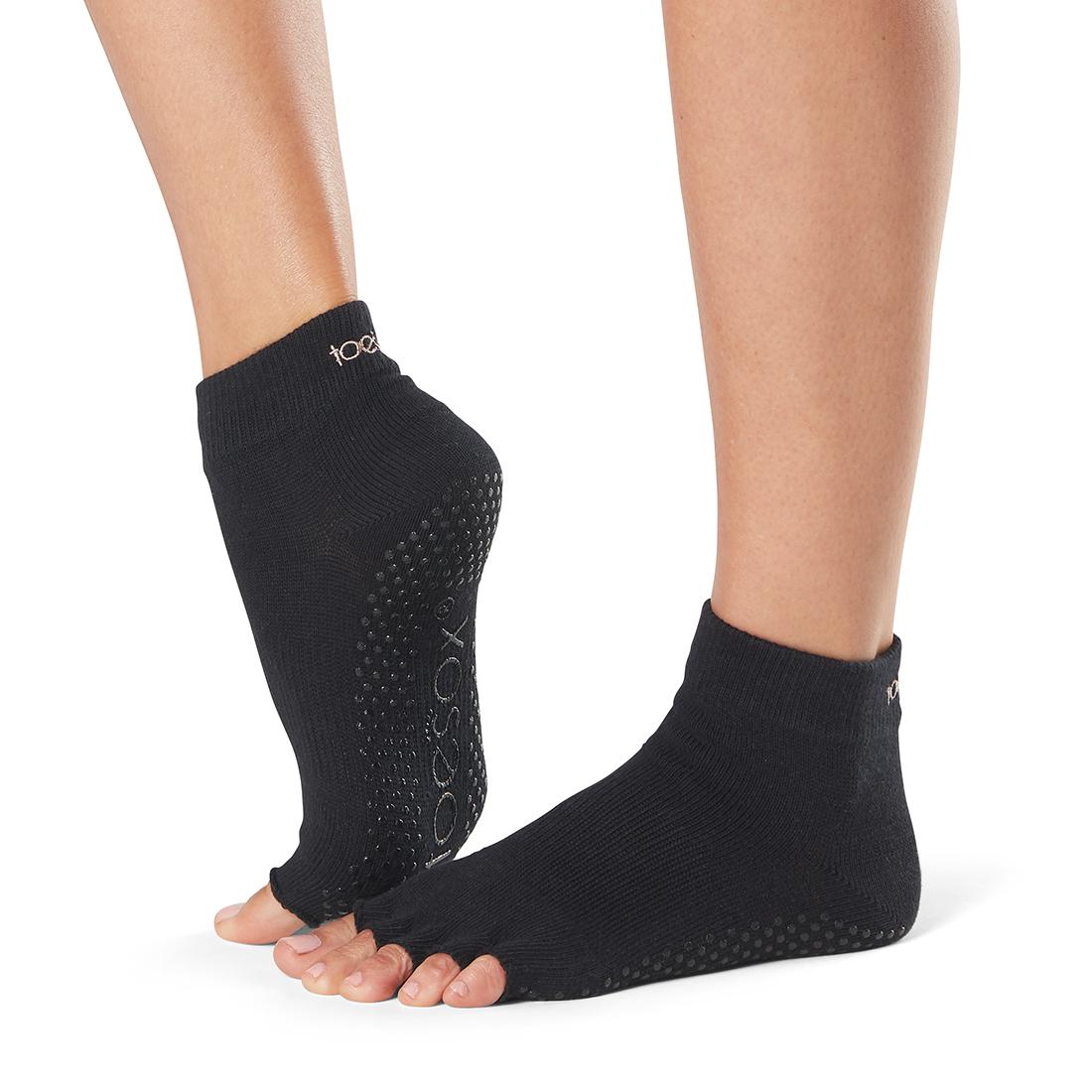 Yogasocken ToeSox Ankle Half Toe Black - 1
