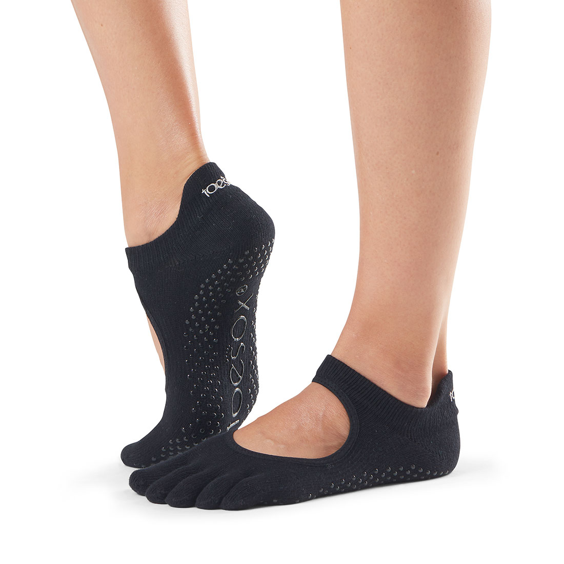 Yogasocken ToeSox Bellarina Full Toe Black