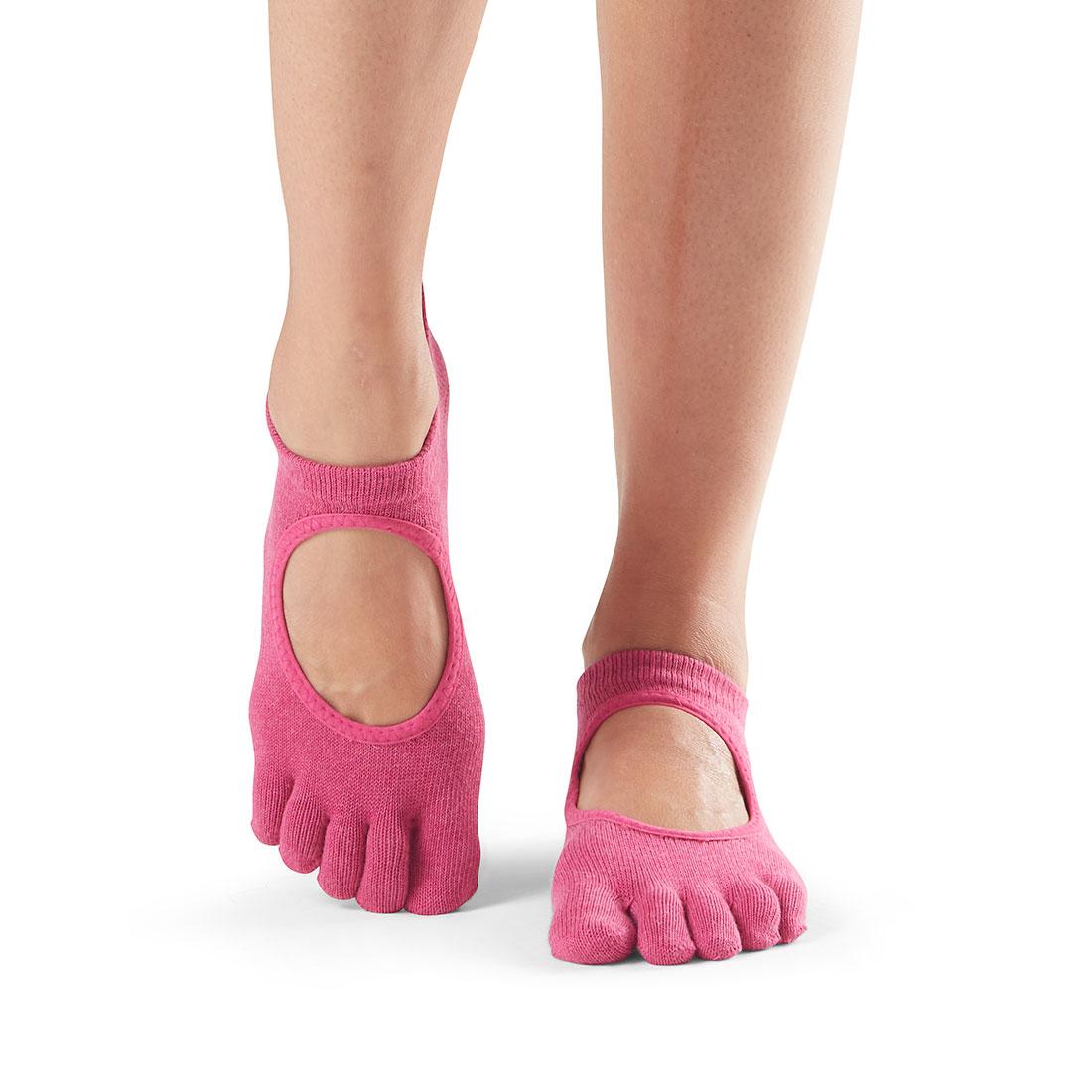 Yogasocken ToeSox Bellarina Full Toe Raspberry - 1