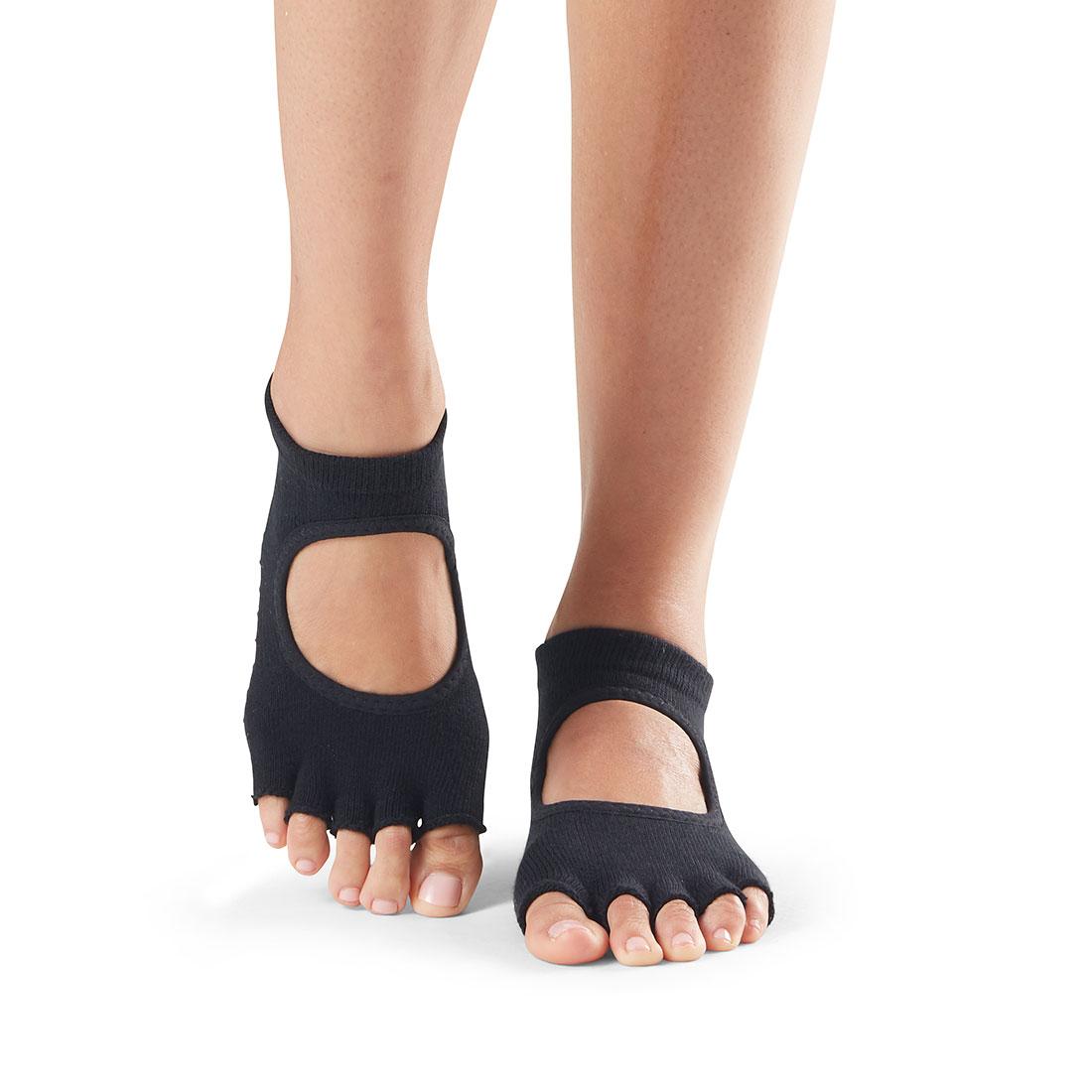 Yogasocken ToeSox Bellarina Half Toe Black - 1