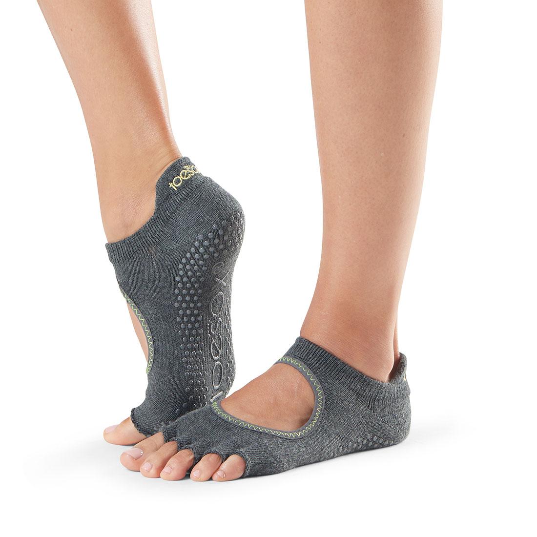 Yogasocken ToeSox Bellarina Half Toe Charcoal Grey
