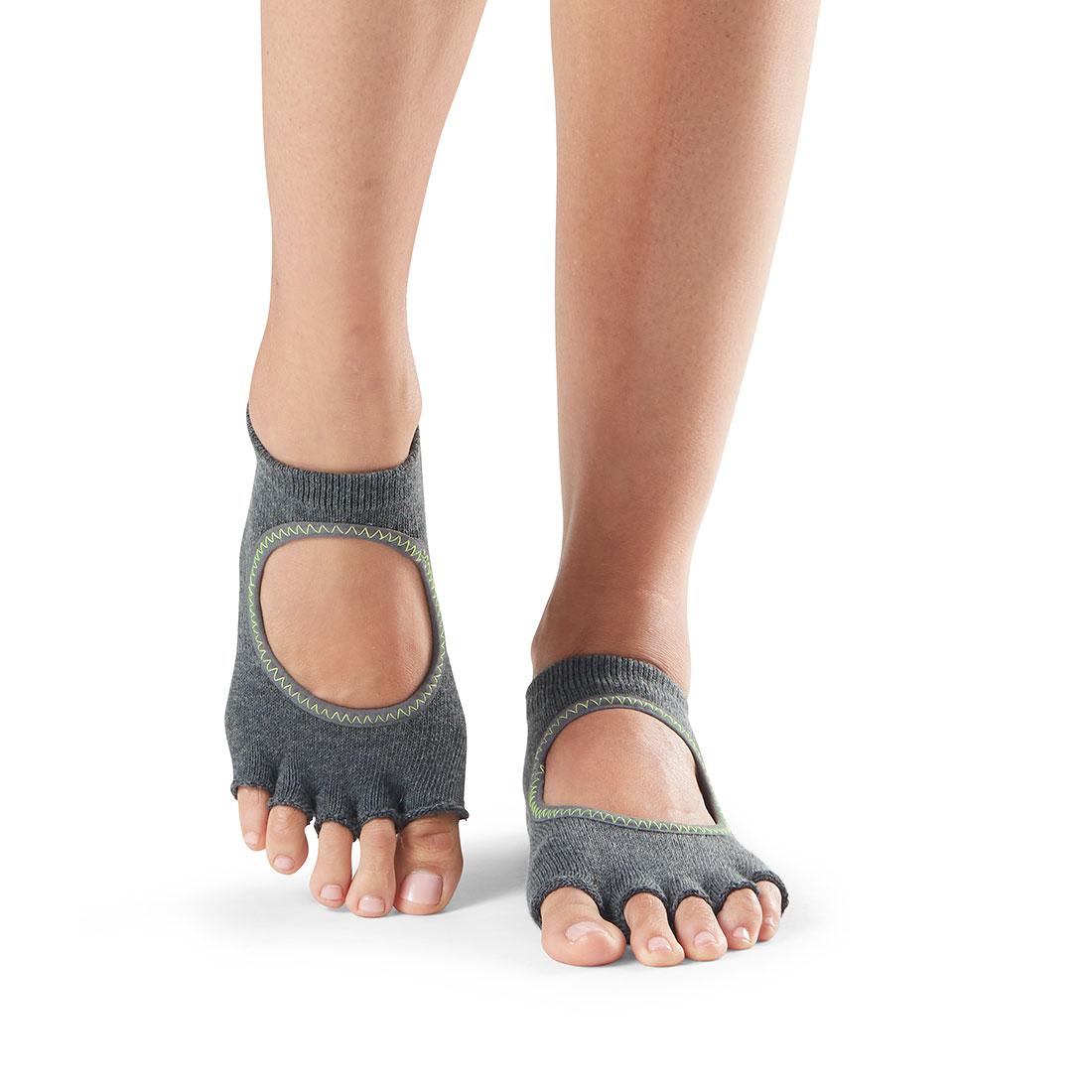 Yogasocken ToeSox Bellarina Half Toe Charcoal Grey - 1