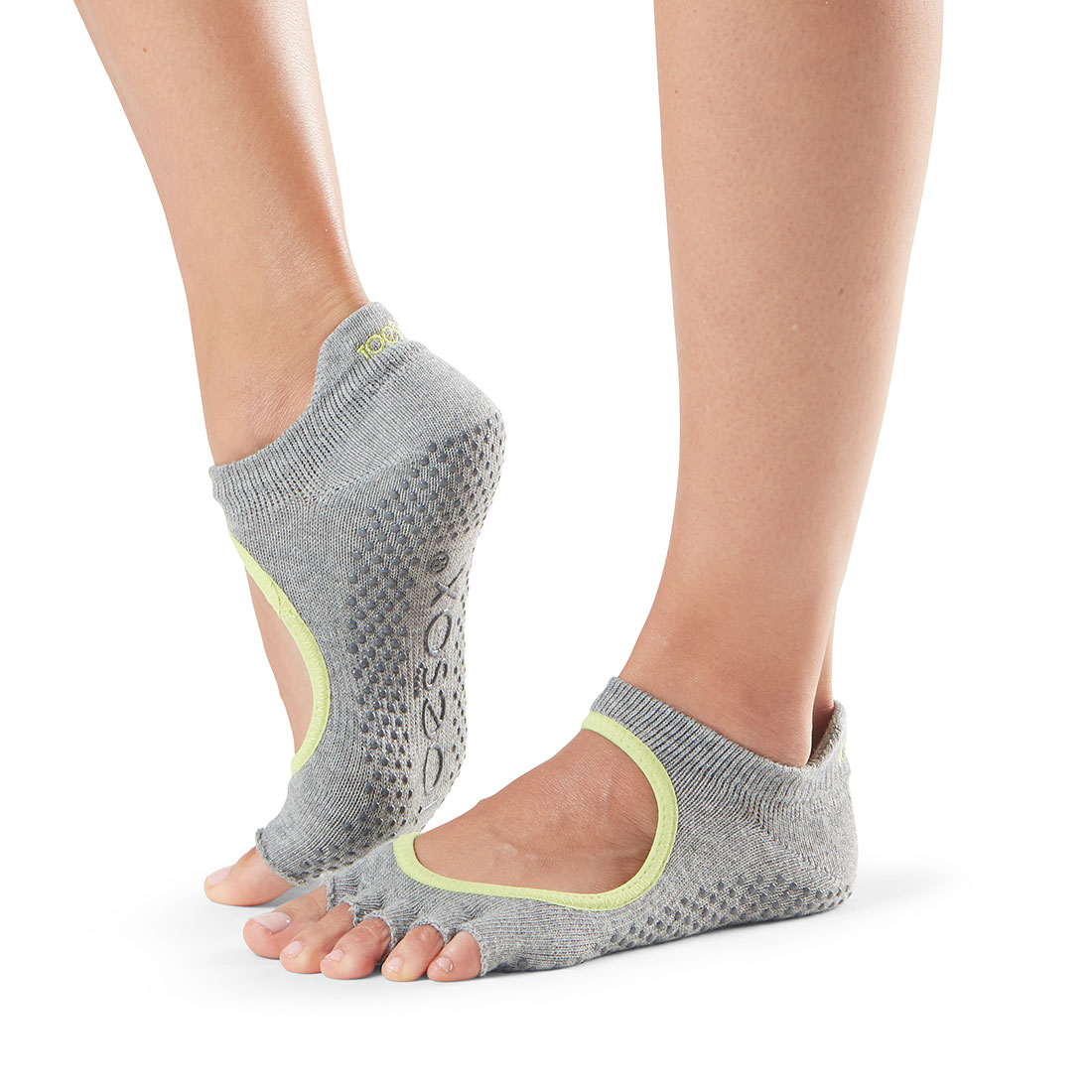 Yogasocken ToeSox Bellarina Half Toe Heather Grey