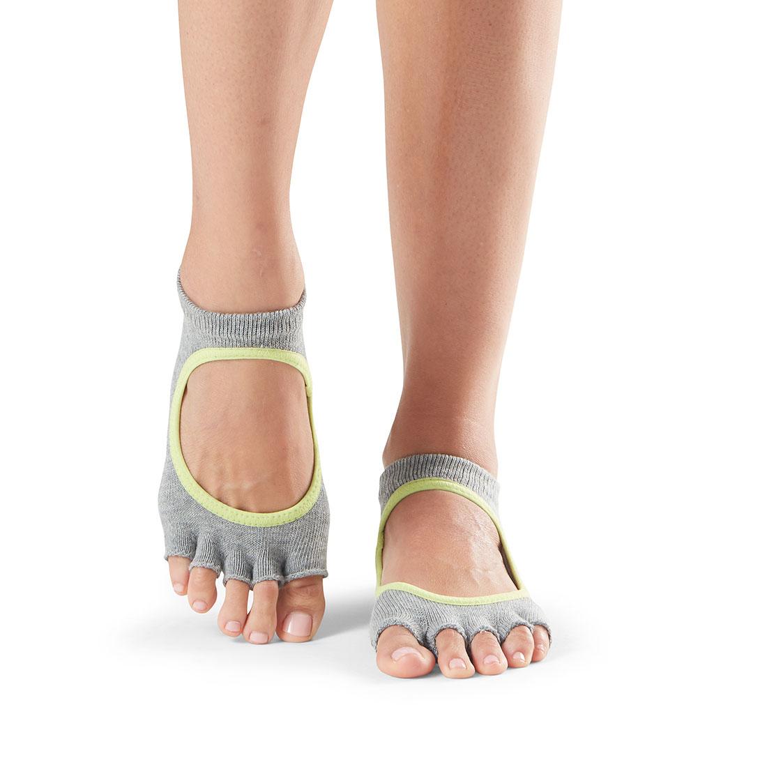 Yogasocken ToeSox Bellarina Half Toe Heather Grey - 1