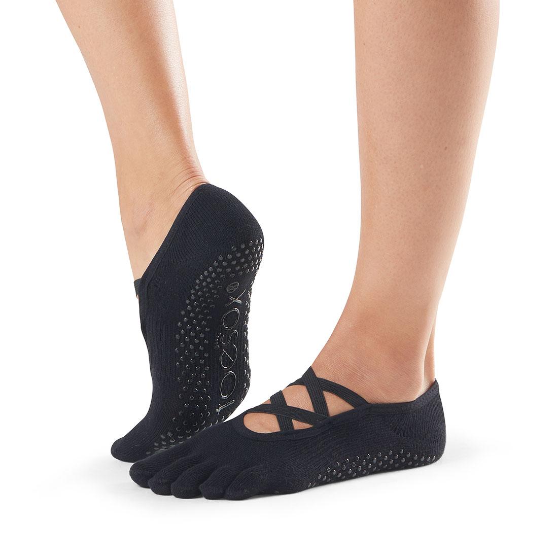 Yogasocken ToeSox Elle Full Toe Black