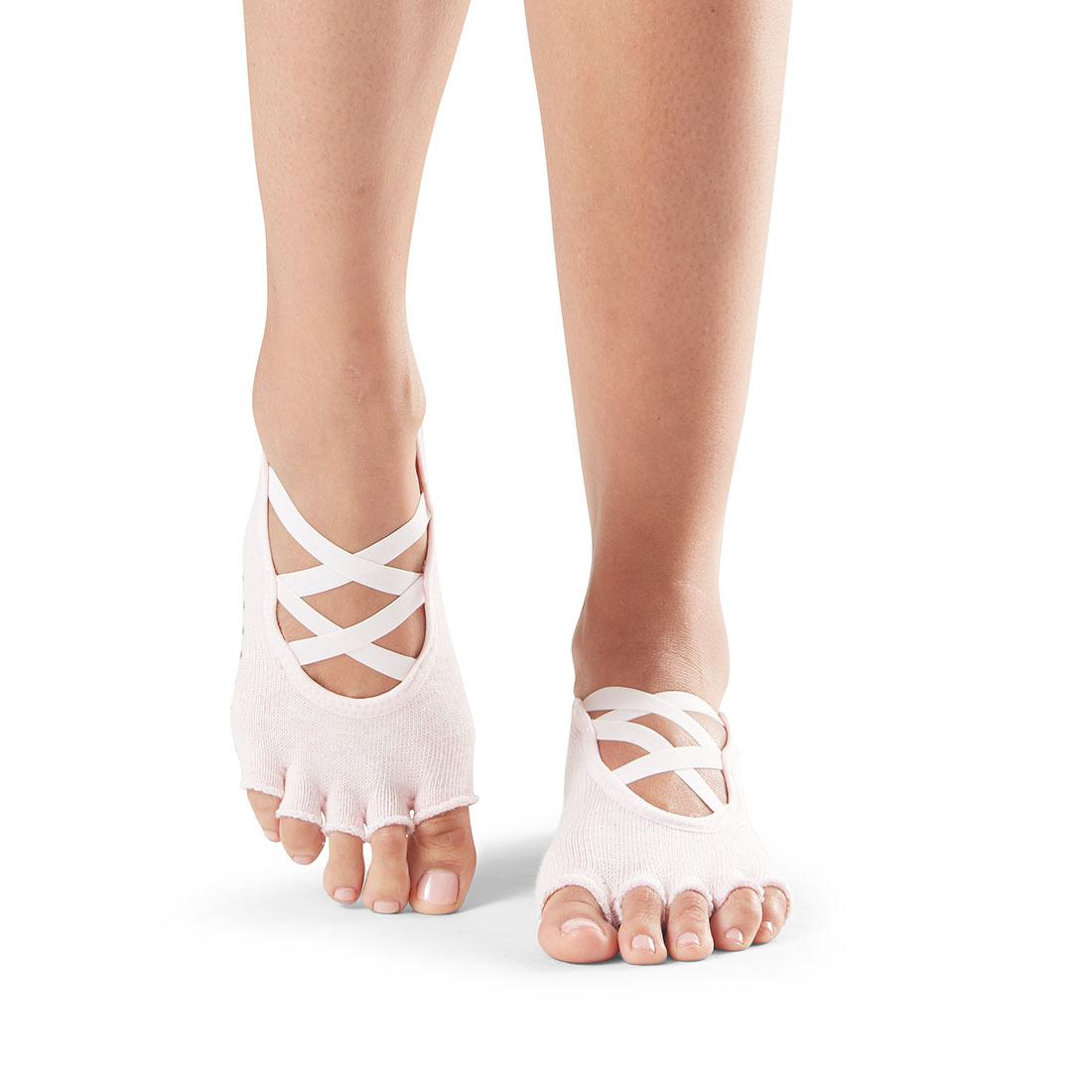 Yogasocken ToeSox Elle Half Toe Ballett Pink - 1