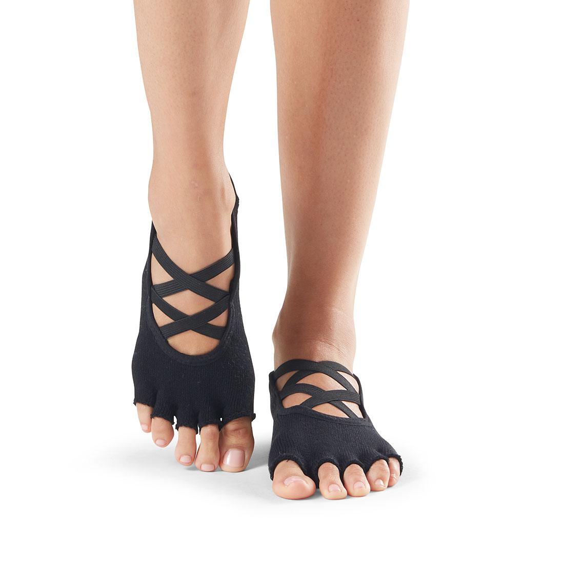 Yogasocken ToeSox Elle Half Toe Black - 1
