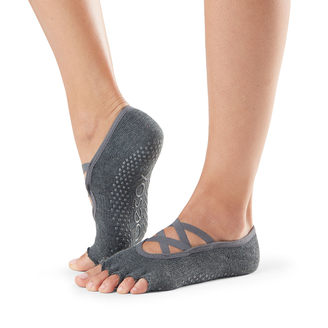 Yogasocke ToeSox Elle Half Toe Charcoal Grey