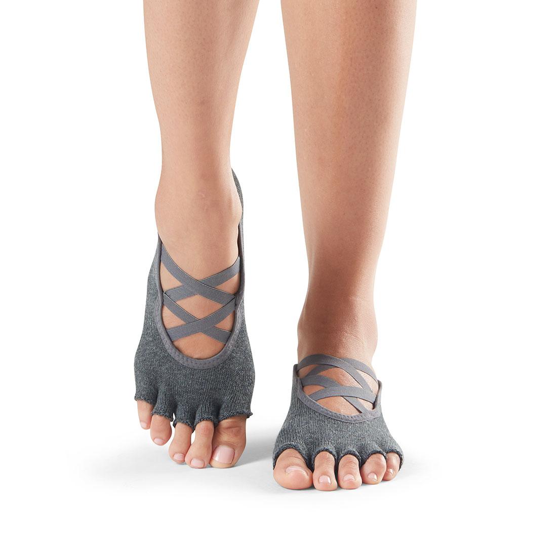 Yogasocke ToeSox Elle Half Toe Charcoal Grey - 1