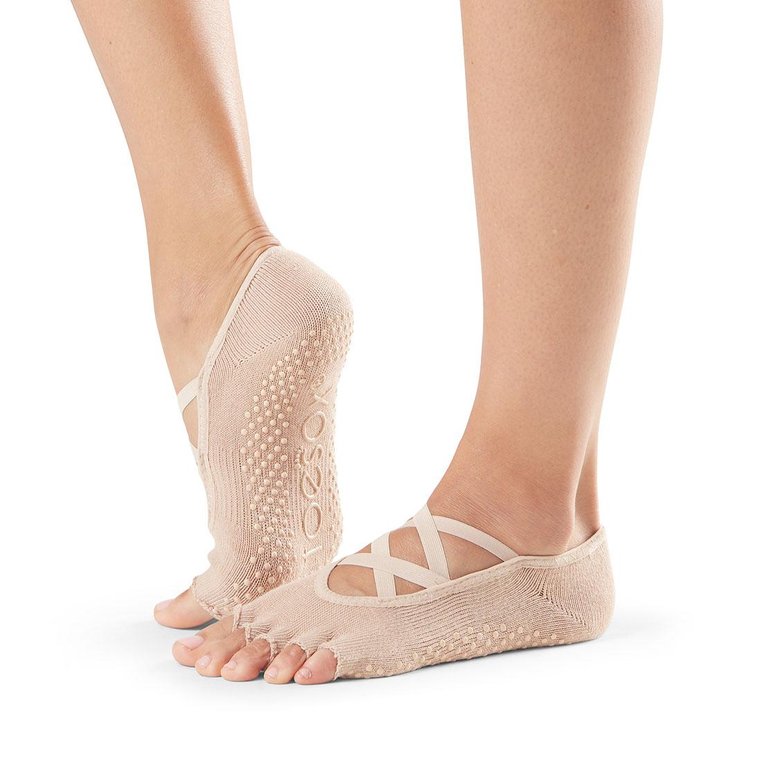 Yogasocken ToeSox Elle Half Toe Nude