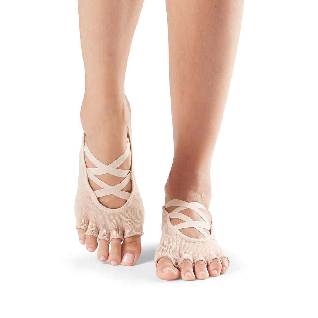 Yogasocken ToeSox Elle Half Toe Nude - 1