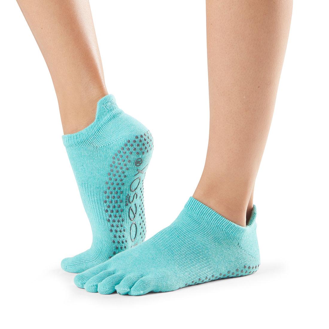 Yogasocken ToeSox Low Rise Full Toe Aqua