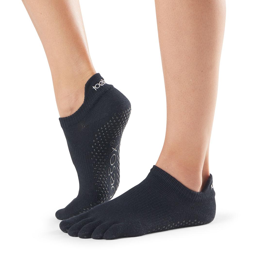 Yogasocken ToeSox Low Rise Full Toe Black