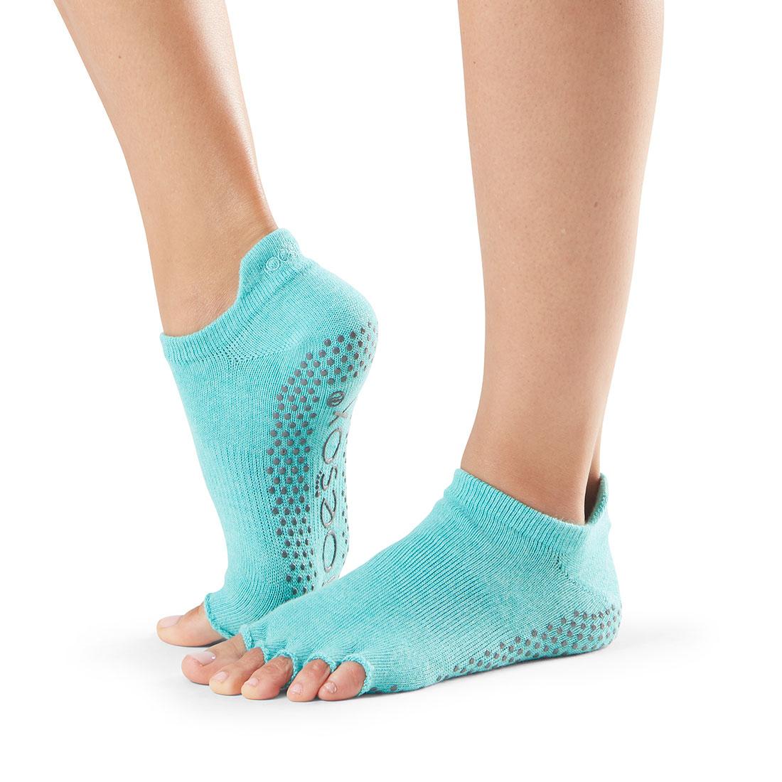 Yogasocken ToeSox Low Rise Half Toe Aqua