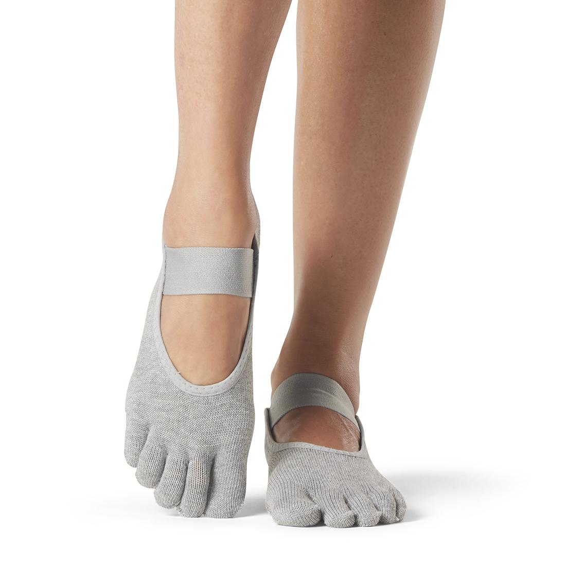 ToeSox Mia Full Toe Heather Grey - 1