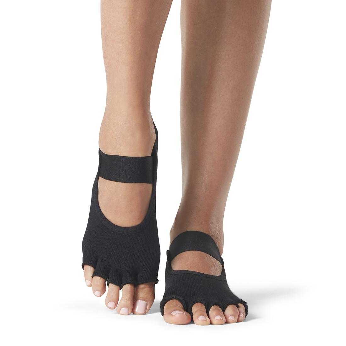 ToeSox Mia Half Toe Black - 1