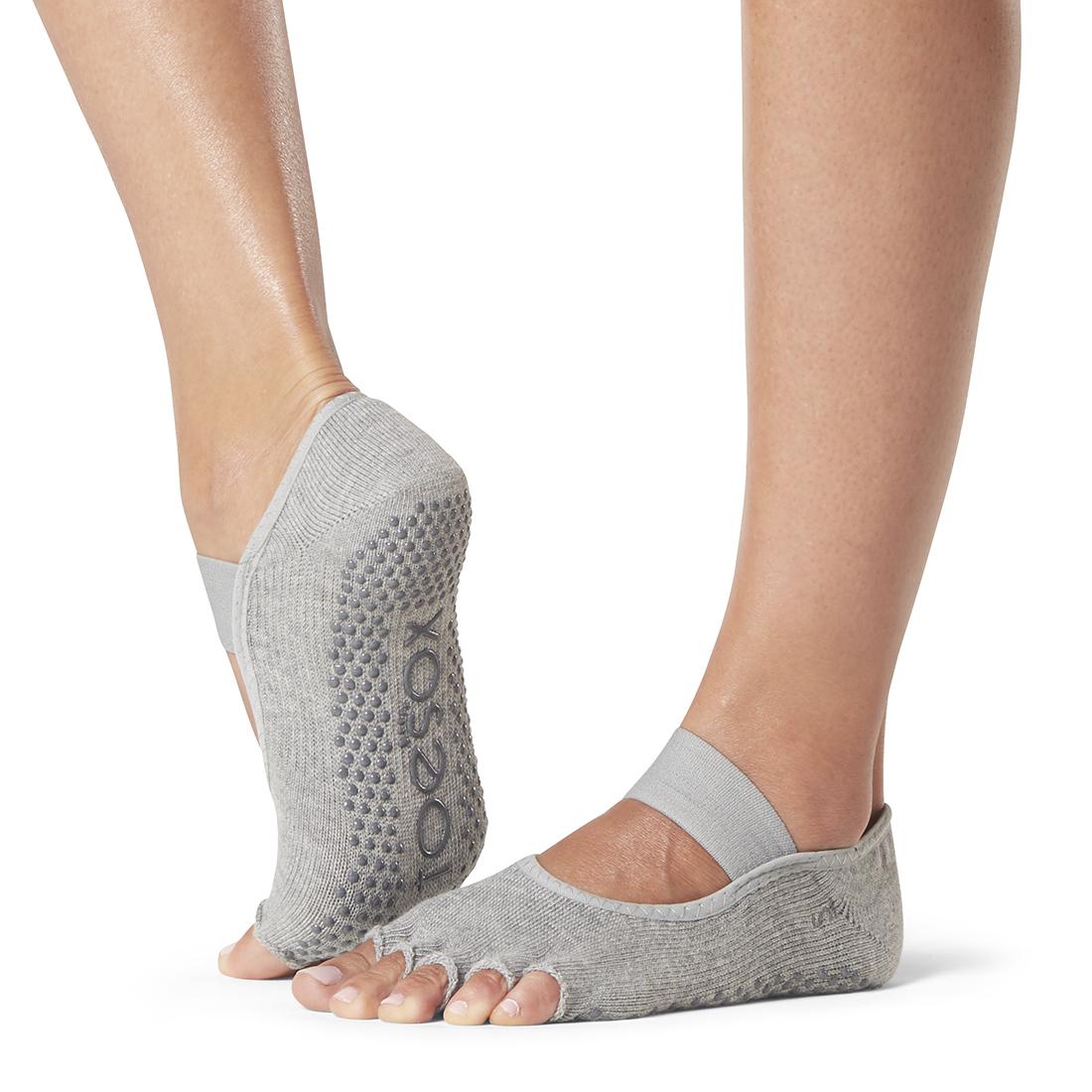Yogasocken ToeSox Mia Half Toe Heather Grey