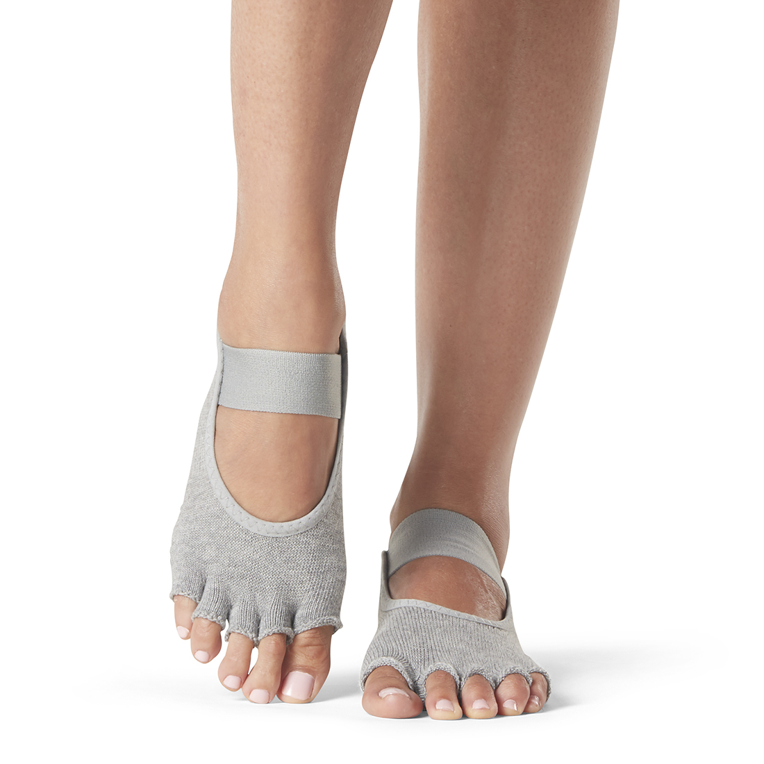 Yogasocken ToeSox Mia Half Toe Heather Grey - 1