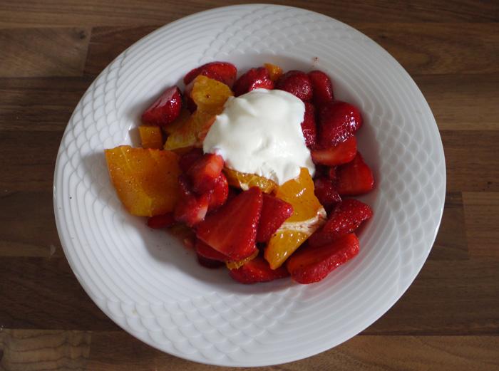 Erdbeeren - Orangen - Salat